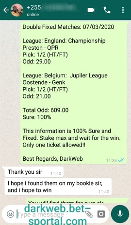 SOCCER FIXED ODDS 100%